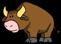 unhappy bull